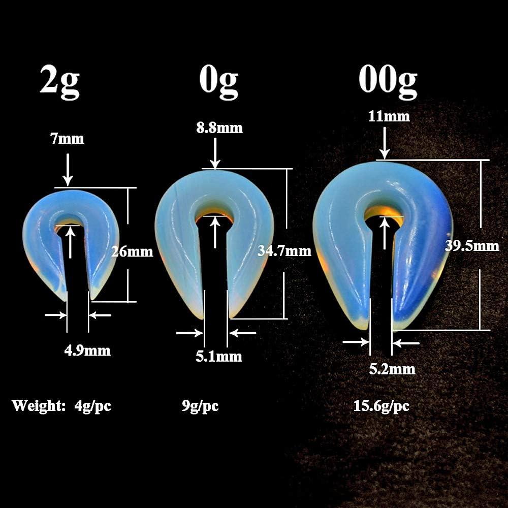 1 Pair Opal Stone Ear Weight Hanger Ear Expander Piercing Plug 6mm/&8mm/&10mm Earrings Fashion Piercing Jewelry