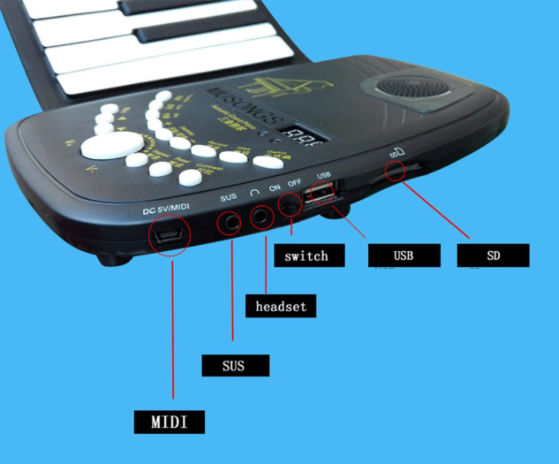 Piano Portatil Flexible De 88 Teclas D88K10 Espesar Con Teclado Suave Plegable, Instrumento De Piano Electrónico Para Principiantes Y Niños Envía Un Pedal ...