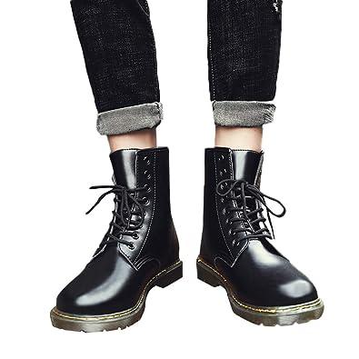 df8770f28af Amazon.com: Mens Boots Fashion Cowboy Style Boots Shoes Leather ...