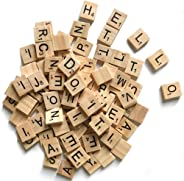 500 Wood Letter Tiles,Scrabble Letters for Crafts - DIY Wood Gift Decoration - Making Alphabet Coasters and Scrabble Crosswo