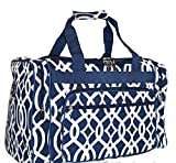 Snowflake Designs Blue and White Vine Duffel Bag