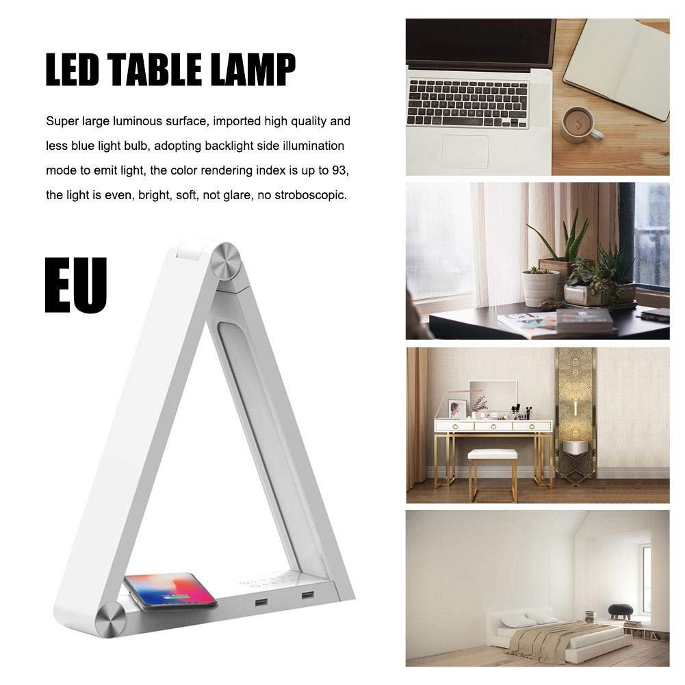 eginvic led schreibtischlampe led smart tischlampe drahtlose Lade USB tischlampe dimmbare wiederaufladbare augenschutz leselampe schreibtischlampen