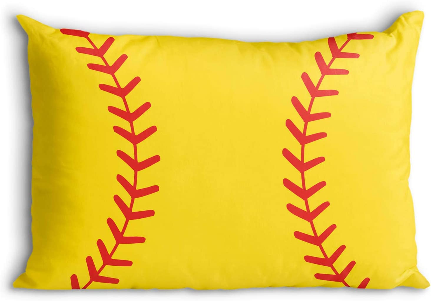 Close Up Stitches Pillowcase | Softball Pillows by ChalkTalk Sports