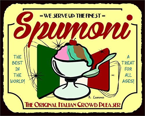 Spumoni Italian Crowd Pleaser Vintage Metal Ice Cream Tin - Ice Signs Vintage Cream