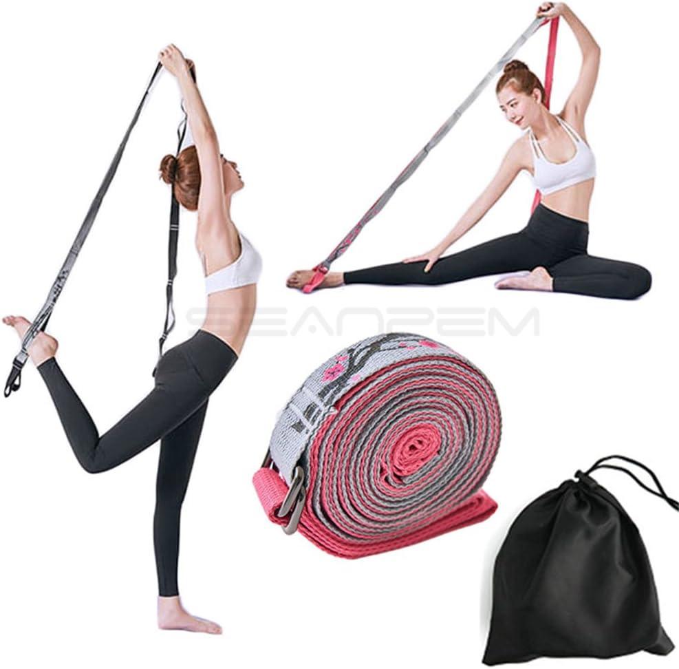 el/ástico para la espalda de los pies SeaNpem gimnasio 11 lazos tera baile de baile cintur/ón el/ástico de resistencia pilates correa de ejercicio ideal para ballet Correa el/ástica para las piernas de yoga y flexibilidad