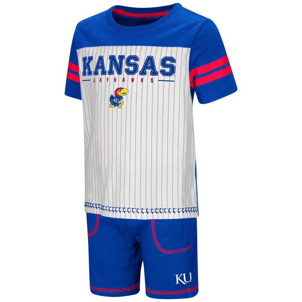 Colosseum Toddler Kansas Jayhawks Pinstripe Tee Shirt and Shorts Set