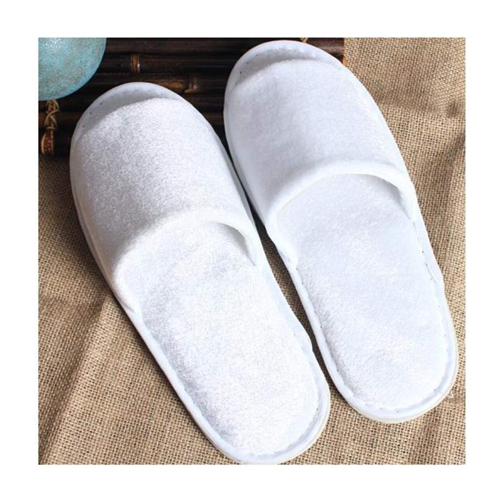 GZZ Disposable Slippers White Disposable Slippers Men's Slippers Women's Home Hospitality Disposables 50 Double Hotel Rooms Gold Velvet Slippers Unisex Clubhouse Beauty Slippers 50 Pairs 28.511cm