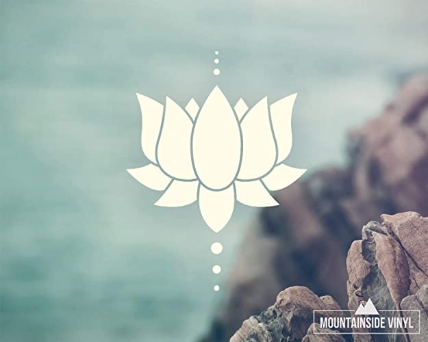 Amazoncom Lotus Flower Vinyl Decal Yoga Stickers Floral