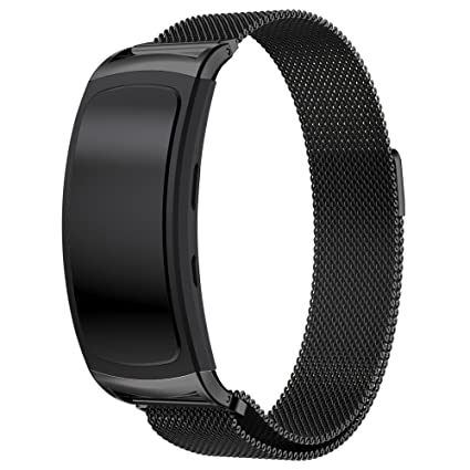 Maxjoy for Samsung Gear Fit 2 Band, Milanese Loop Replacement Bands Stainless Steel Bracelet Metal Watch Strap with Magnet Clasp for Samsung Gear Fit2 ...
