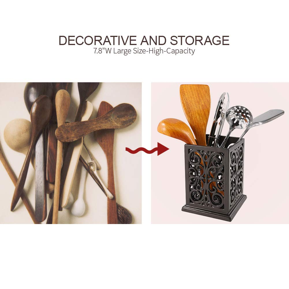Vintage Decorative Kitchen Utensil Holder Cooking Utensil Organizer Perfect Gift for Cooking by JOGREFUL (Image #4)