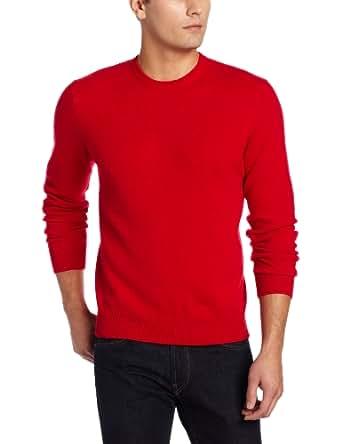 Williams Cashmere Men's Crew Neck Sweater, Cherry, Small
