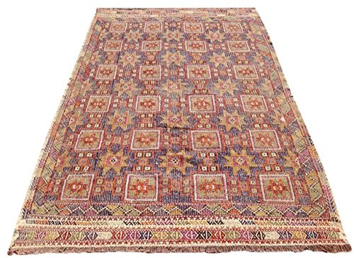 Star Patterned Turkish Kilim Rug