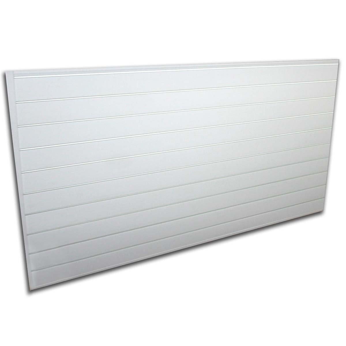 Proslat 88102 Heavy Duty PVC Slatwall Garage Organizer, 8-Feet by 4-Feet Section, White by Proslat