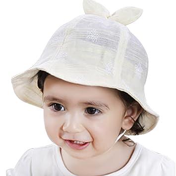 b0620fe2b01f2 赤ちゃん 帽子 ベビー 夏 日よけ バケツハット 幼児 女の子 男の子 あごひも付き リボン