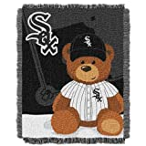 MLB Chicago White Sox Field Woven Jacquard Baby Throw Blanket, 36x46-Inch