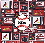 St. Louis Cardinals Baseball Fabric Personalized Pillow