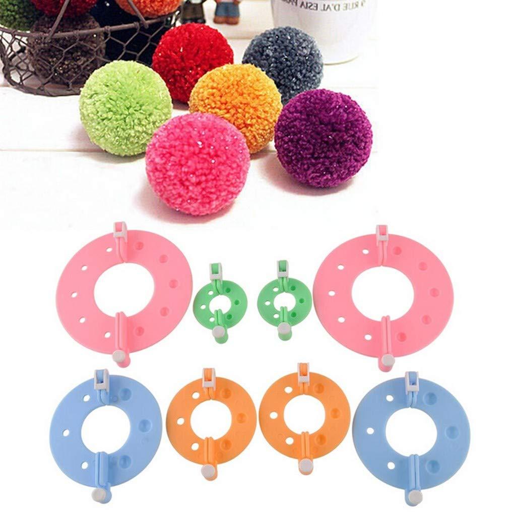 Fluff Ball Weaver Maker Pom pom Maker Ball Weave Needle Knitting Craft Wool Ball DIY Tools Set 4 Sizes