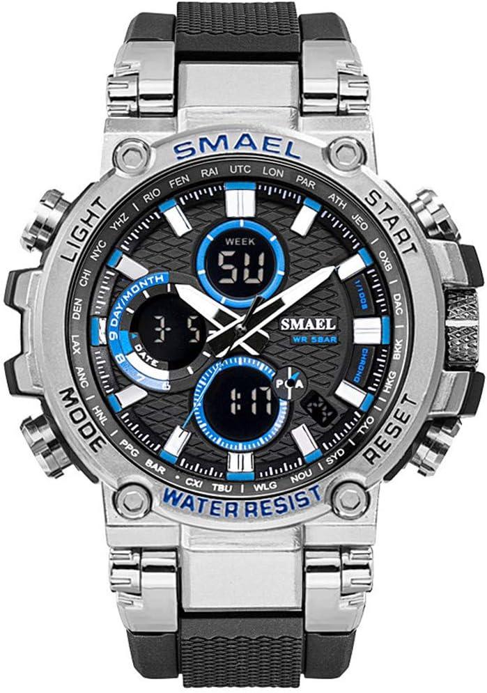 SMAELBand Digital Army Watch Men Reloj Deportivo LED Reloj Impermeable Reloj Militar de los Hombres