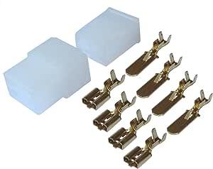 AERZETIX: Conector Caja de conexion 4 vias con terminales electricos Macho Hembra MAX 2.5mm² C11661: Amazon.es: Electrónica