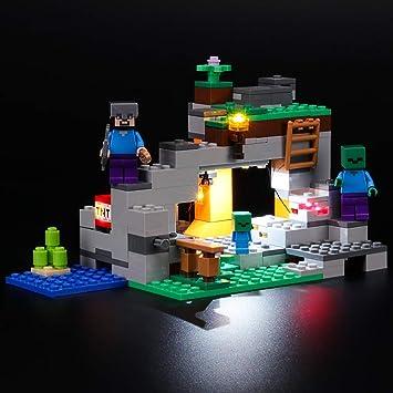 Briksmax Kit Di Illuminazione A Led Per Lego Minecraft La Caverna Dello Zombie Compatibile Con Il Modello Lego 21141 Mattoncini Da Costruzioni Non Include Il Set Lego Amazon It Giochi E Giocattoli