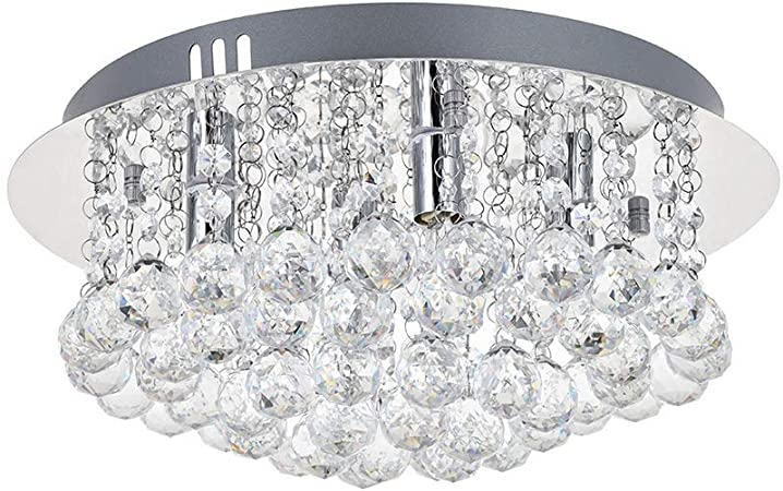 New Design LED Chandelier Ceiling Light Luxury Crystal Lamp Modern Ceiling Lighting LED Luminaire Plafonnier For Living Room Chandelier Crystals