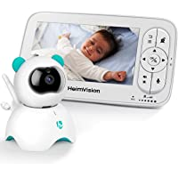 """HeimVision HM136 Video Baby Monitor, 5"""" LCD Display, 720P HD, Two-Way Audio, Temperature & Sound Alarm, Security Camera with 110° Wide Angle, Night Vision, Up to 1000ft of Range"""