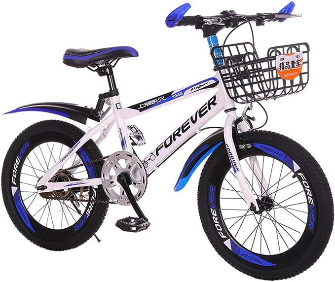 Freno de Retroceso para ni/ños de 5 a 8 a/ños con V-Brake est/ándar e iluminaci/ón Bicicleta Infantil de 18 Pulgadas Amigo Sports Timbre Azul