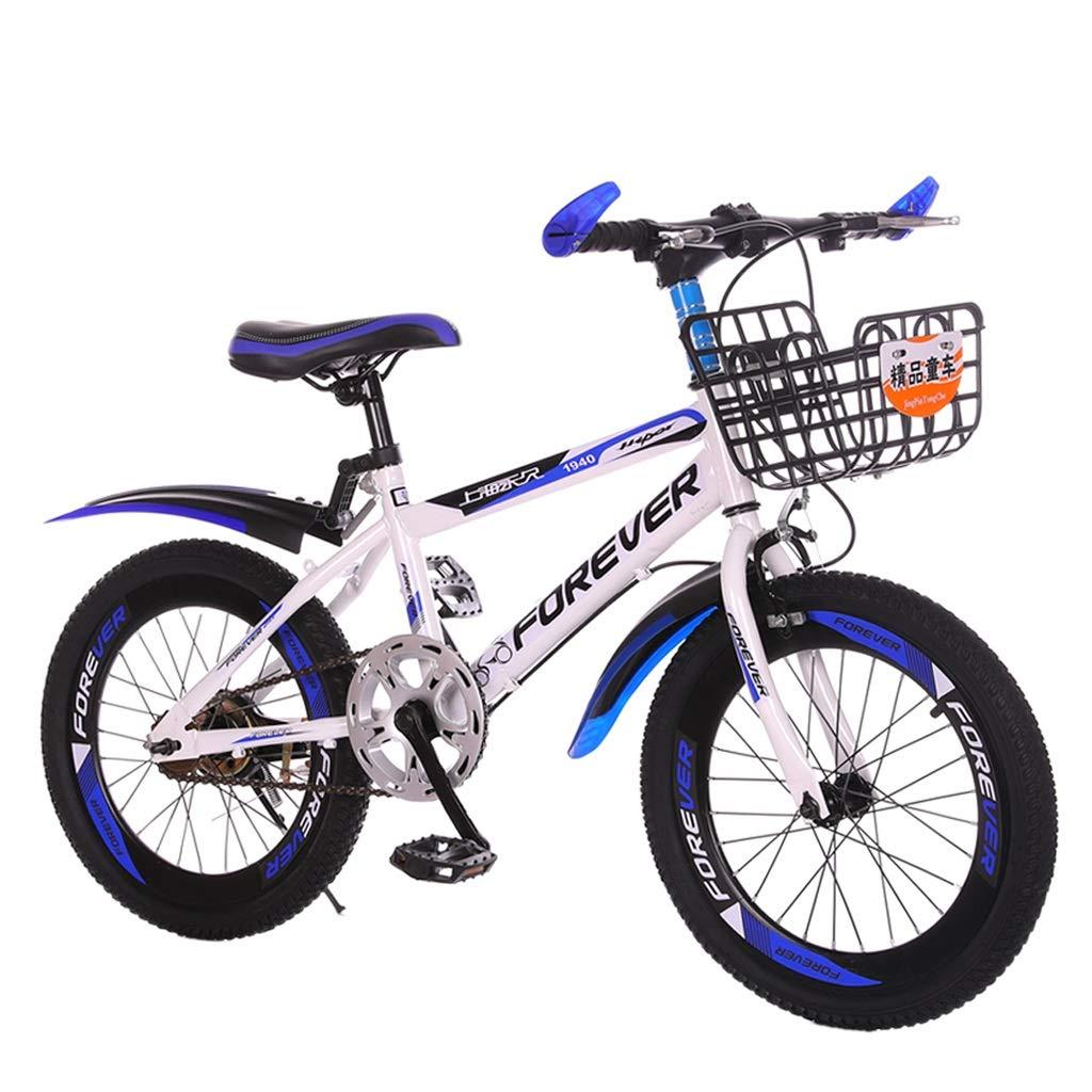 子供用自転車 子供用屋外外出用自転車 屋外マウンテンバイク 男の子と女の子のサイクリング 子供用屋外自転車(610歳) (Color : Blue, Size : 18 inches) 18 inches Blue B07NQMCBMW