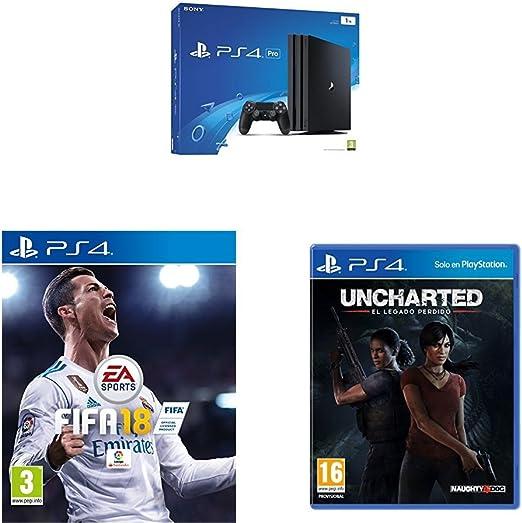 PlayStation 4 Pro (PS4) - Consola, Color Negro + FIFA 18 - Edición ...