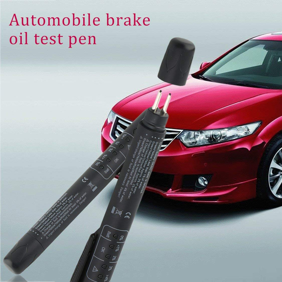 Universal Car Tester Pen Auto Vehicle 5 LEDs Brake Fluid Brake Oil Tester Moisture Oil Testing Tool Vehicle Diagnostic Tools