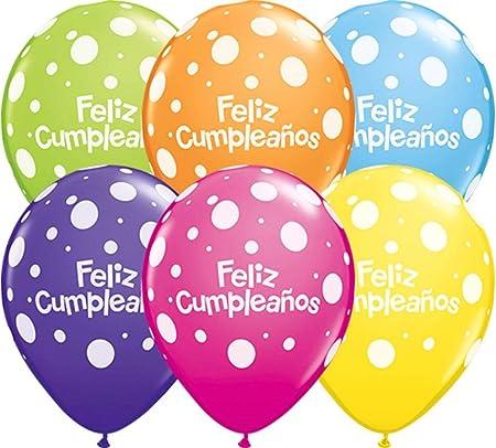 Nana s Party Globos de látex de Lengua española Qualatex – Feliz Cumpleanos, Vivan Los Novios: Amazon.es: Hogar