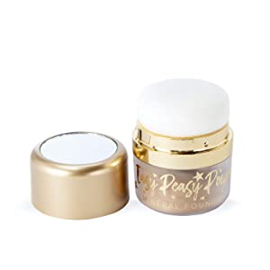 Belle Beauty by Kim Gravel Easy Peasy Foundation Face Powder - Loose Mineral Powder Full Coverage Foundation Makeup (Tan)