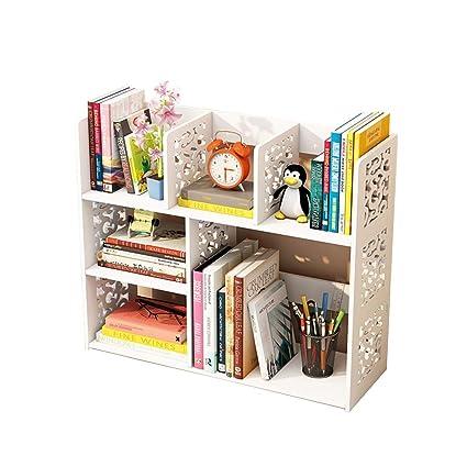 953db9e1f07 Estantería pequeña Sobre la Mesa librero de Escritorio Estante Simple para  Estudiantes librería pequeña para Oficina