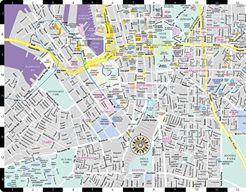 Streetwise Sydney Map Laminated City Center Street Map of Sydney – Australia Street Map