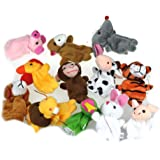 Malloom® 12Pcs Chinese Zodiac Soft Animal Puppet Finger Toys