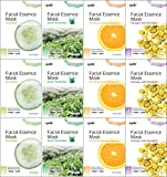 Kareway Epielle Assorted Facial Essence Mask (Pack of 12)