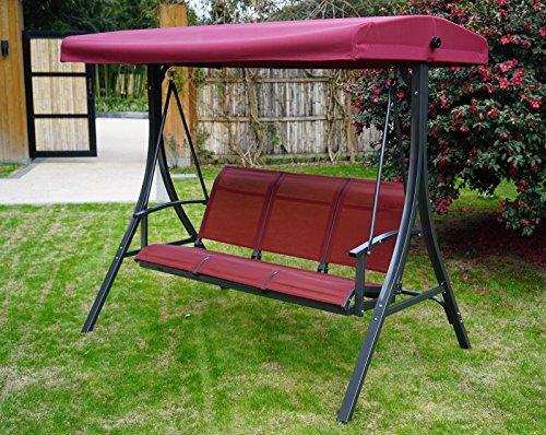 Kozyard Brenda 3 Person Outdoor Patio Swing With Strong