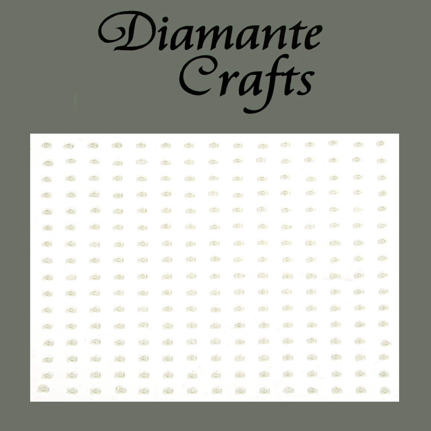 240 x 1mm Ivory Pearl Self Adhesive Rhinestone Body Nail Vajazzle Gems - created exclusively for Diamante Crafts
