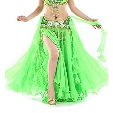 S&Z Danza del Vientre de Gasa de Mujer con una Falda de Baile de ...