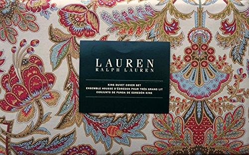 Lauren Ralph Lauren 3 Piece King Duvet Cover Set Jacobean