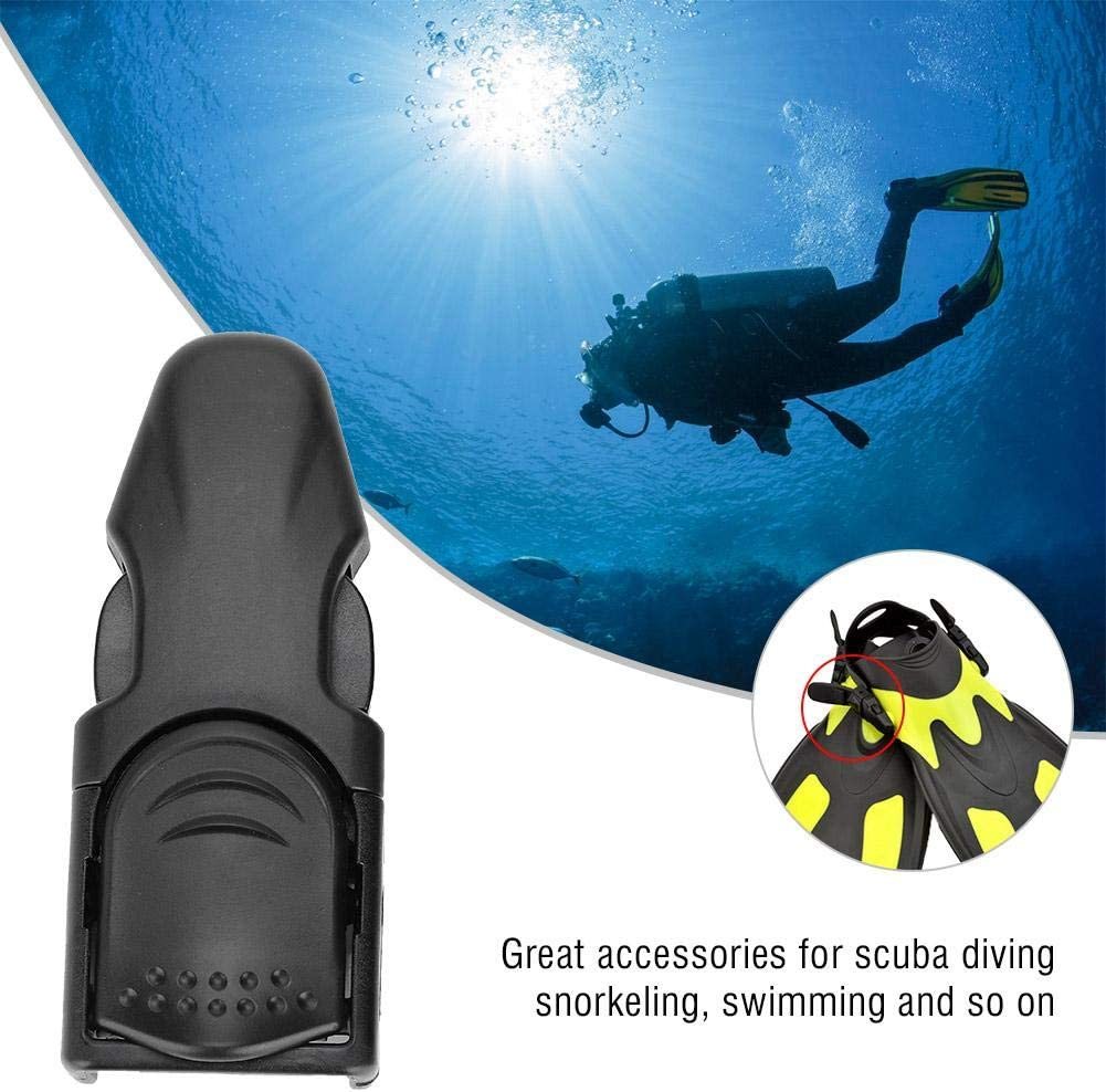 Black Storm Accessories Storm Replacement Rubber Fin Strap with Plastic QD for Scuba Diving and Snorkeling Fins