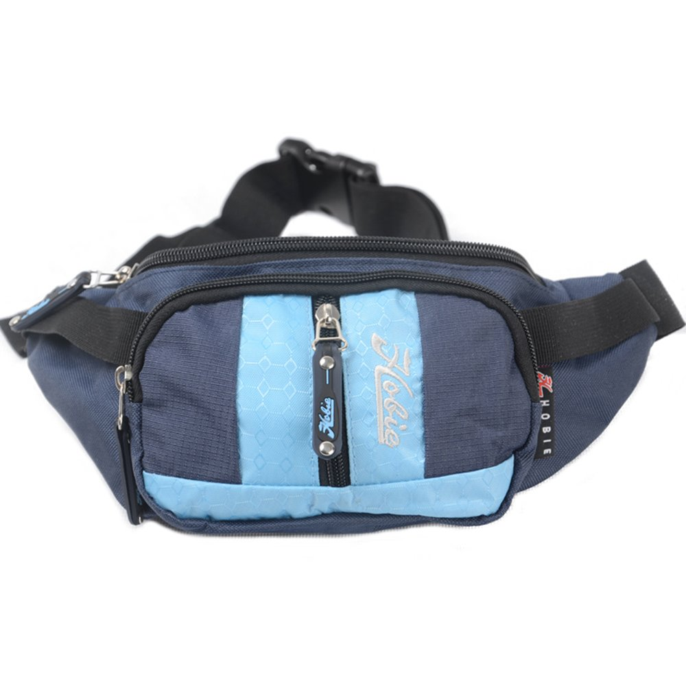 Hobie Unique Outdoor Fashion Design Soft Hiking Travel Bag Waterproof Waist Pack,Blue