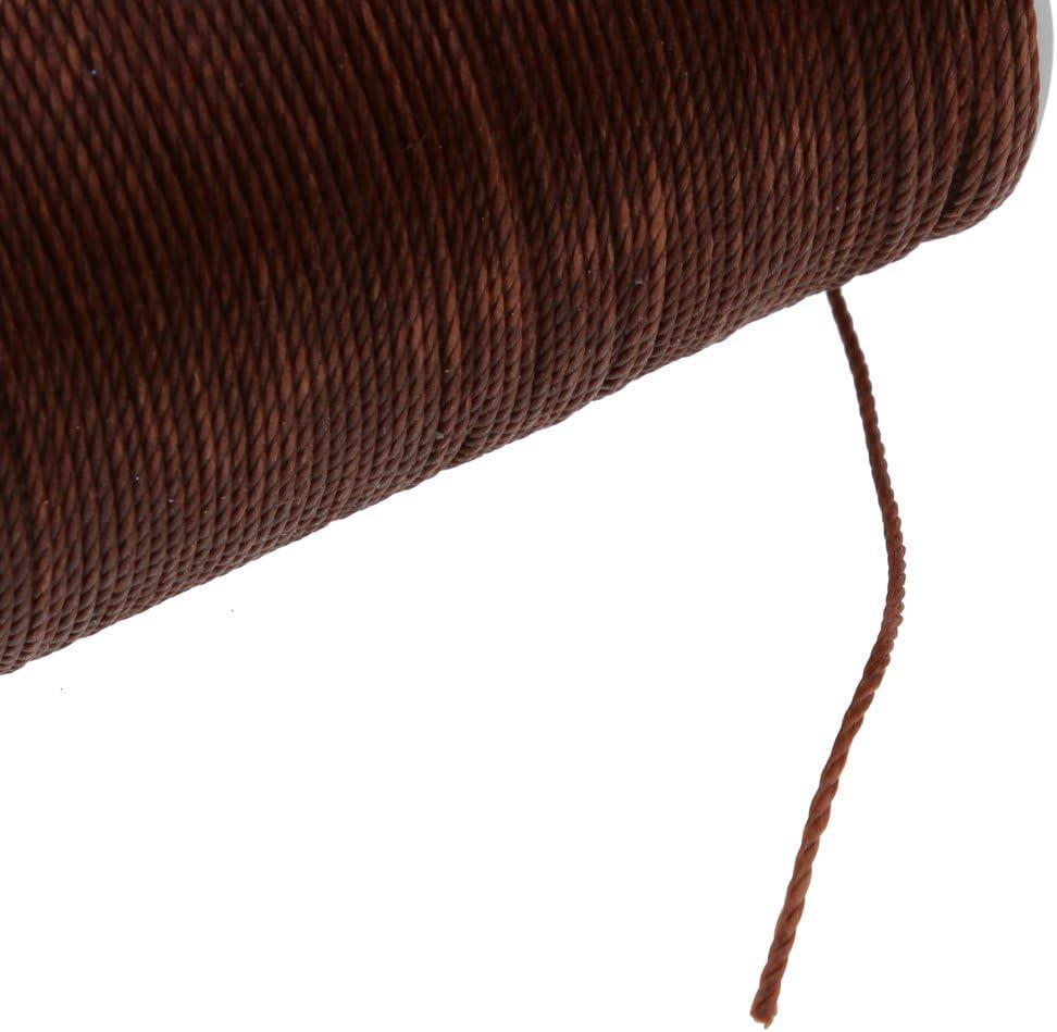 perfk 85 Meter Gewachstes Garn Ledergarn Wachsband Wachsfaden N/ähen Handwerk 0.6mm 0.55mm Beige
