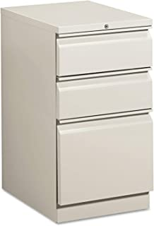 product image for HON 33720RQ Efficiencies Mobile Pedestal File w/One File/Two Box Drwrs, 19-7/8d, Lt Gray