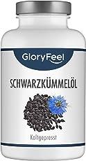 GloryFeel® Schwarzkümmelöl 1000mg Hochdosiert - 420 Kapseln - Original aus Ägypten Kaltgepresst mit 80% essentiellen ungesättigten Fettsäuren und Vitamin E - Laborgeprüfte Herstellung in Deutschland