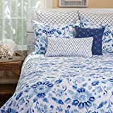 Sasha Blue King Bed Skirt