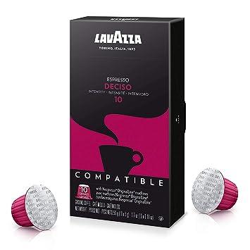 Lavazza Espresso Capsules Compatible With Nespresso - Deciso Espresso Flavor - Choose Quantity (6 Pack