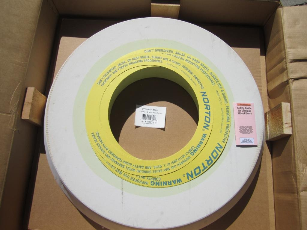 Norton 66253240754 Alundum Grinding Wheel 3NQ80-L10VS 30''x3.750''x12''