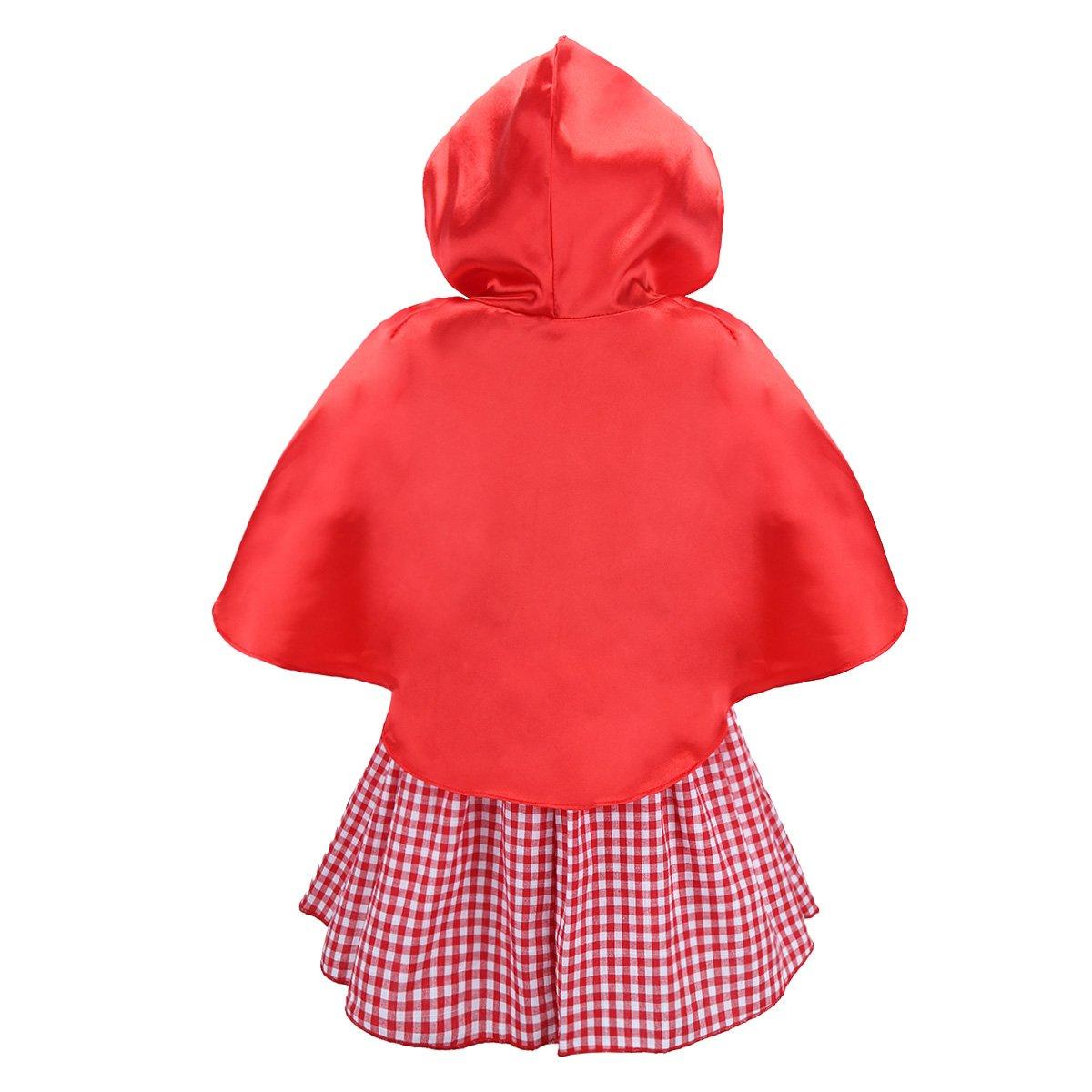 iiniim Baby Girls Halloween Party Costumes Short Sleeves Dress with Hooded Cloak (18-24 Months) by iiniim (Image #2)