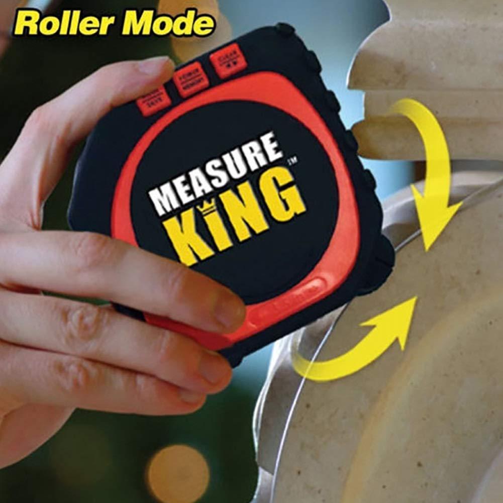 Digital Tape Measure 3-in-1 Multi-Functional Digital Laser Tape Measure with Large LCD Backlight Display String Laser Roller Modes Measuring Tool